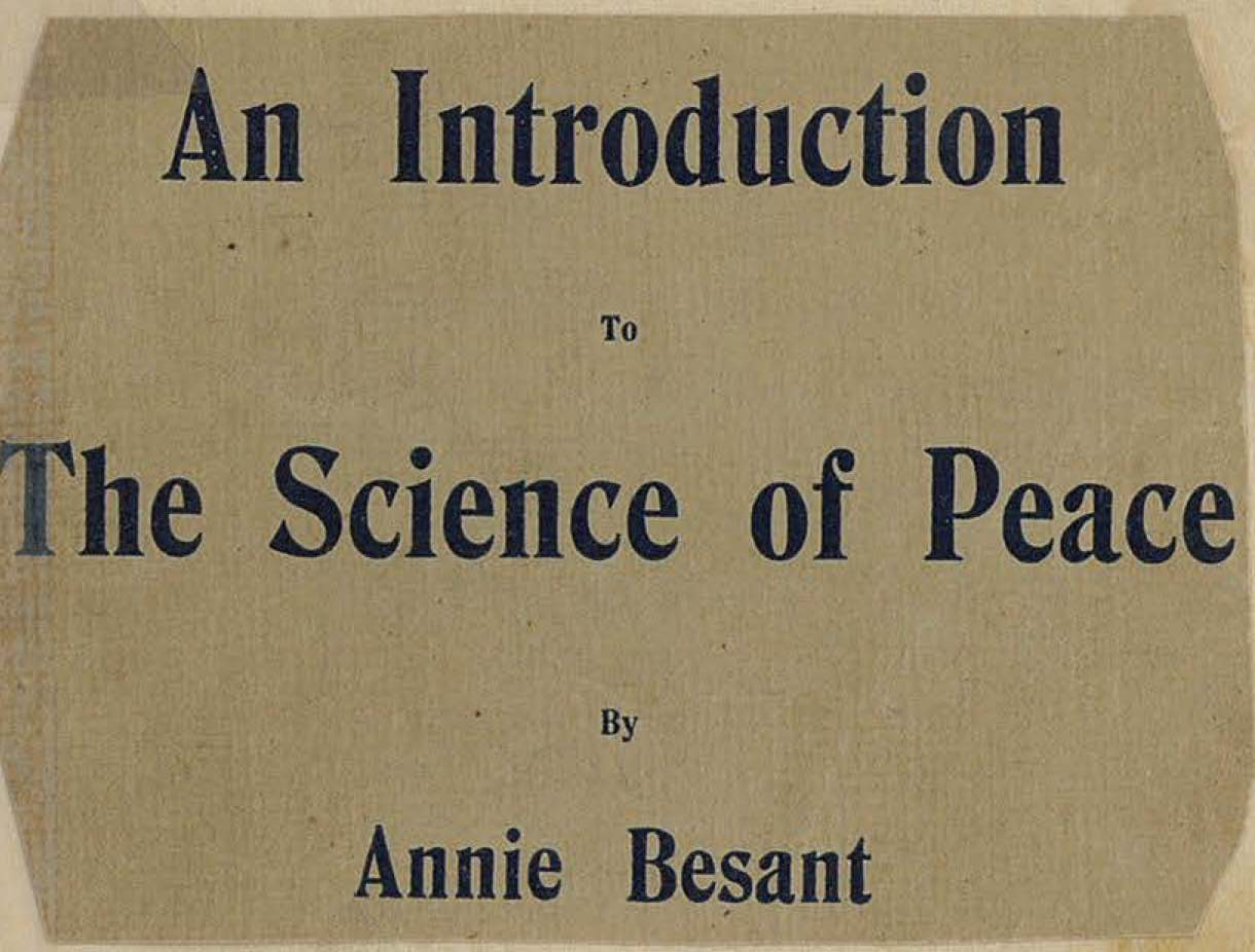 An Introduction to the Science of Peace
