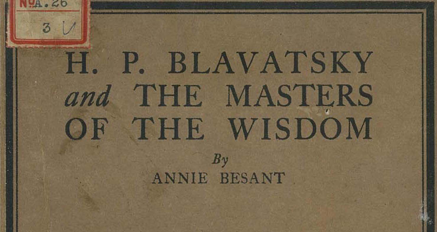 ebook of HPB and the Masters of the Wisdom by Annie Beasant