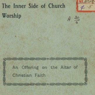 The Inner Side of Church Worship bu G Hodson