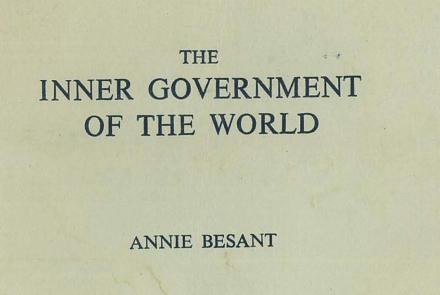 Inner Government of the World - lectures by Annie Besant